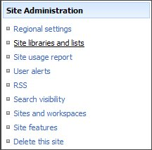 delete a document library in SharePoint