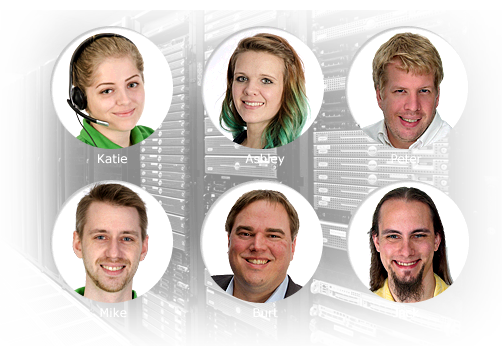 HostMySite Humans Included - some of our great staff