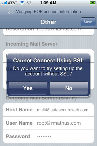 How do I configure the iPhone for my email accounts?HostMySite