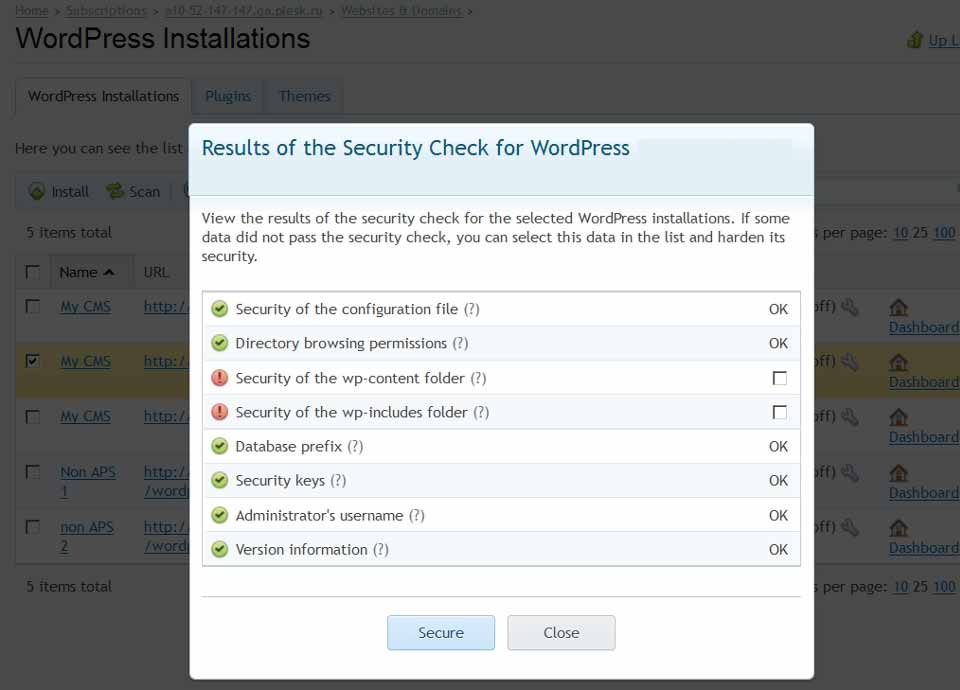 plesk-12-wordpress-security-check