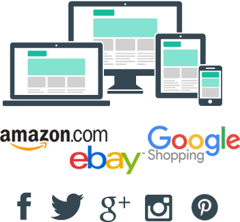 ePages responsive websites, major shopping sites, social media